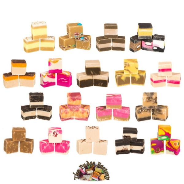 3 Mixed Flavours Luxury Hand Made Fudge Factory 600g